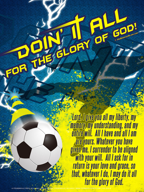 """Doing It All"" Soccer Poster"