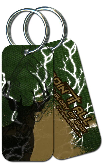 """Doing It All"" Hunting Keychain"