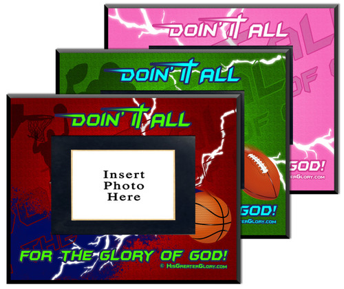 """Doing It All"" Graphic Picture Frame"