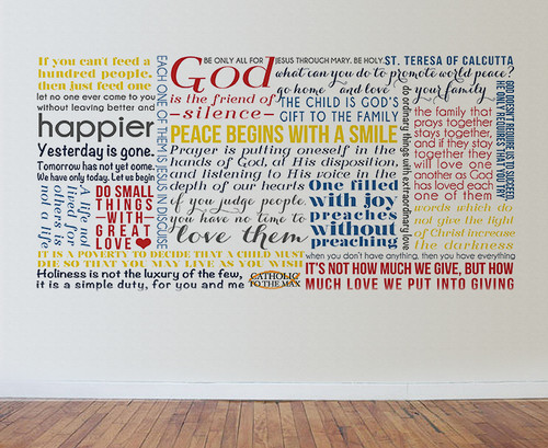 Saint Teresa of Calcutta Quote Wall Decal