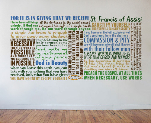 Saint Francis of Assisi Quote Wall Decal