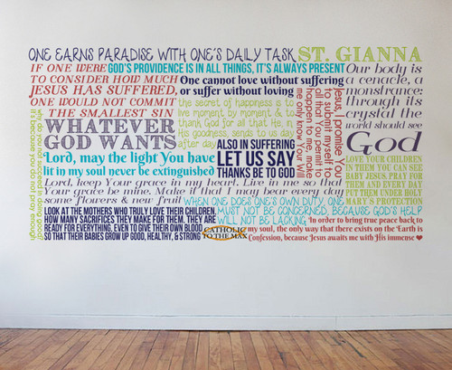 Saint Gianna Quote Wall Decal