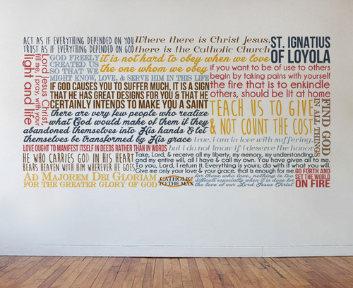 Saint Ignatius of Loyola Quote Wall Decal