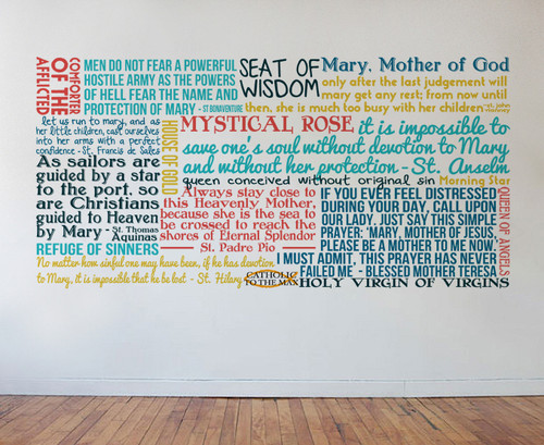 Mary, Mother of God Quote Wall Decal