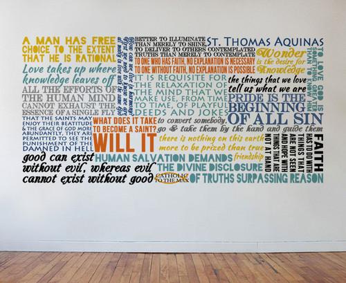 Saint Thomas Aquinas Quote Wall Decal