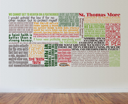Saint Thomas More Quote Wall Decal