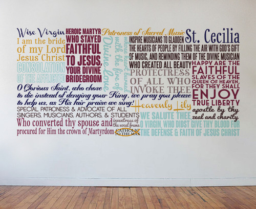 Saint Cecilia Quote Wall Decal