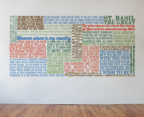 Saint Basil the Great Quote Wall Decal