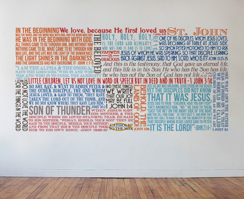 Saint John the Evangelist Quote Wall Decal