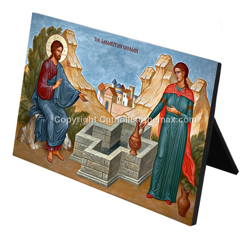 The Samaritan Woman at the Well Desk Plaque