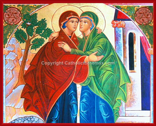 The Visitation Icon Wall Plaque