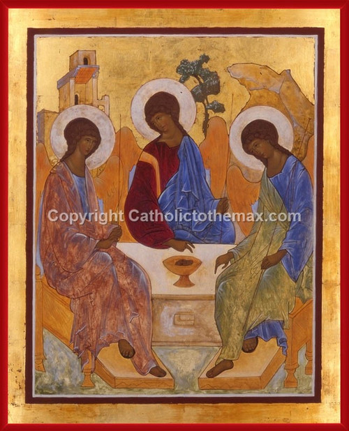Holy Trinity (Rublev) Icon Wall Plaque