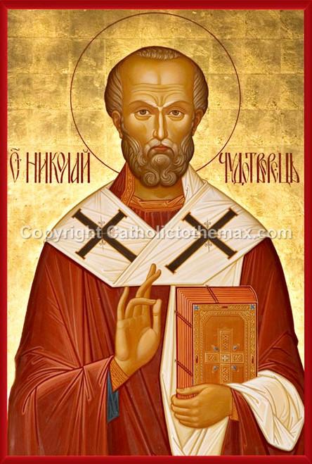 St.Nicholas Icon Wall Plaque