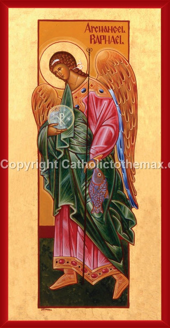 The Archangel Raphael Icon Wall Plaque