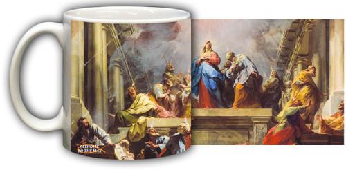 Pentecost by Jean II Restout Mug