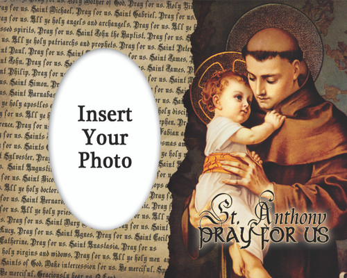 St. Anthony with Jesus Photo Frame