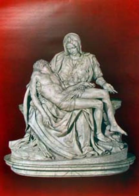 Pieta on Red Print