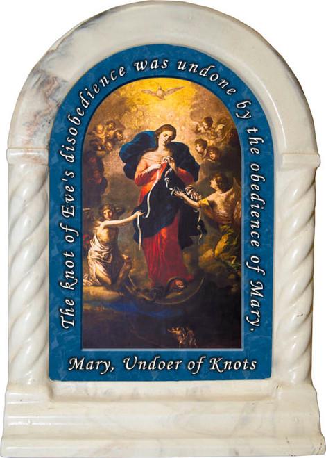 Mary Undoer of Knots Prayer Desk Shrine