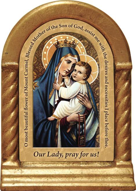 Our Lady of Mt. Carmel Prayer Desk Shrine