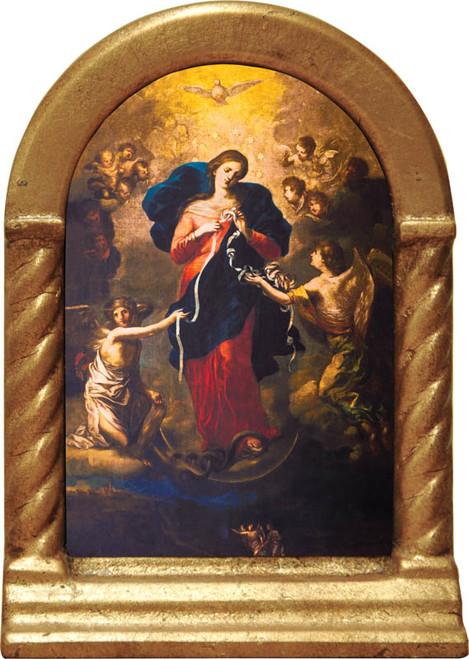 Mary Undoer of Knots Desk Shrine