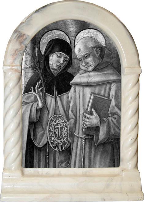 Sts. Catherine and Bernardino Desk Shrine