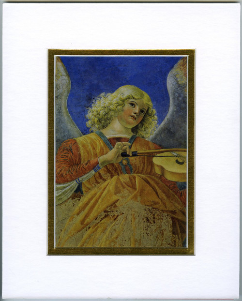 Angel with Violin: Fine Art Print with Matte