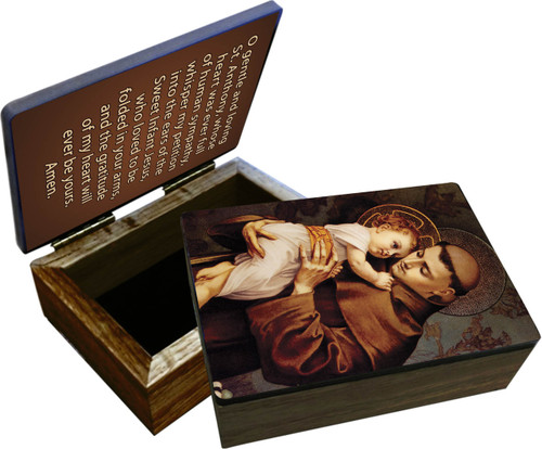 St. Anthony with Jesus Keepsake Box