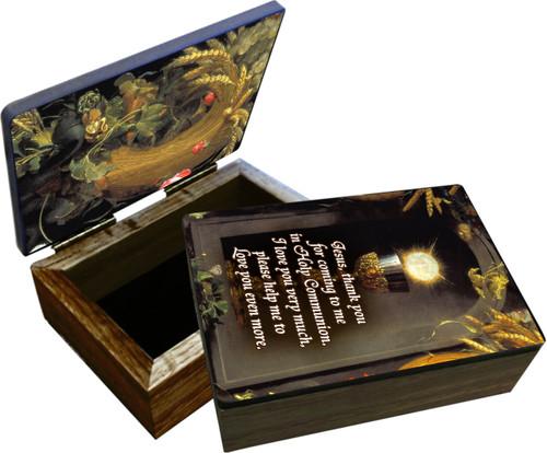 Eucharist Host and Chalice Keepsake Box