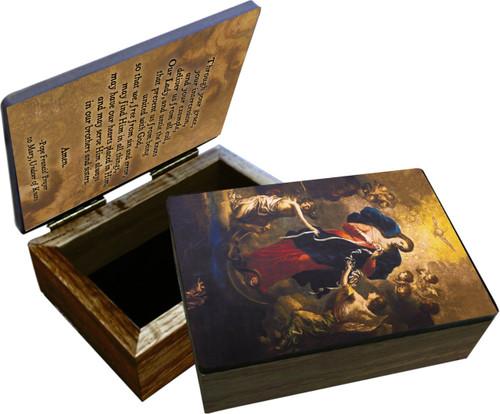 Mary Undoer of Knots Pope Francis' Prayer Keepsake Box