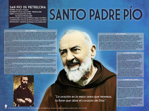 Spanish Saint Padre Pio Explained Poster