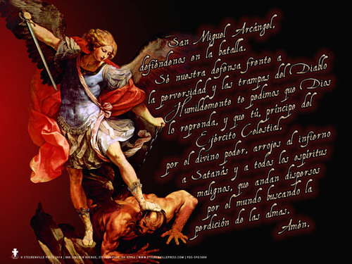 Spanish Prayer to St. Michael Poster