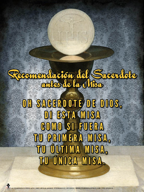 Spanish A Priest's Commendation Before Mass Poster