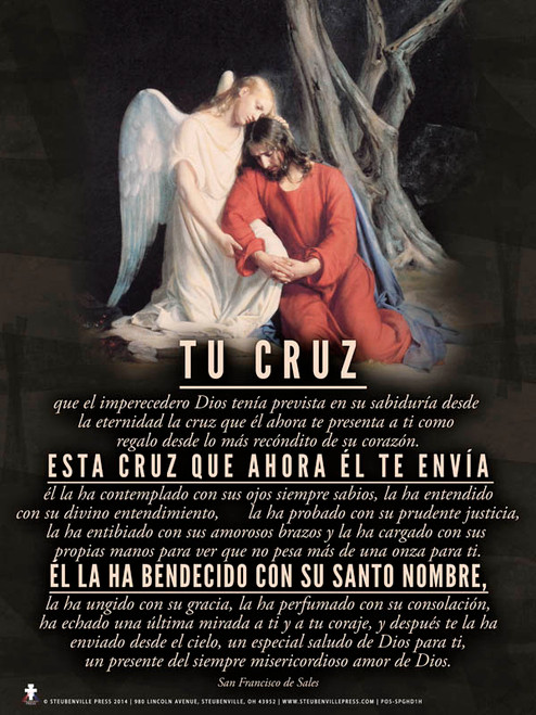 Spanish Your Cross (St. Francis de Sales) Poster