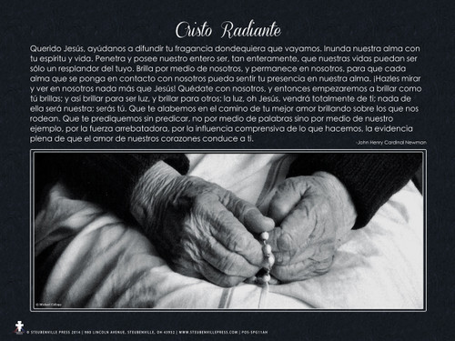 Spanish Radiating Christ Poster