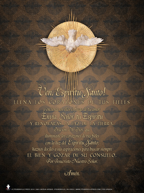 Spanish Come Holy Spirit  Poster