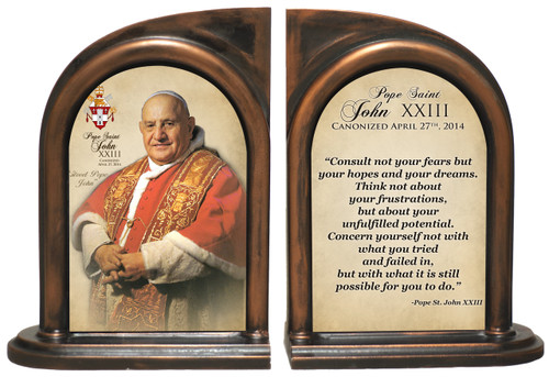 Commemorative Pope John XXIII Sainthood Quote Bookend