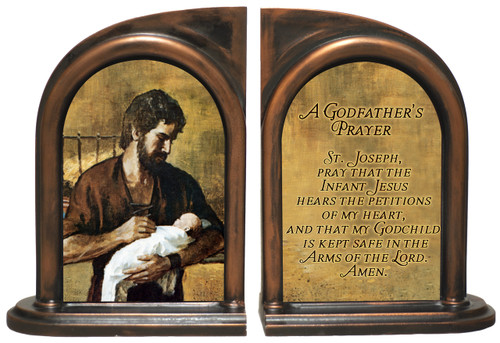 A Godfather's Prayer - St. Joseph Bookends