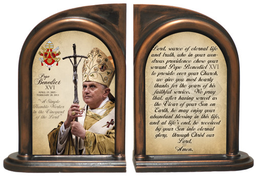 Commemorative Pope Benedict XVI Bookends