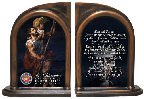 St. Christopher Marines Bookends