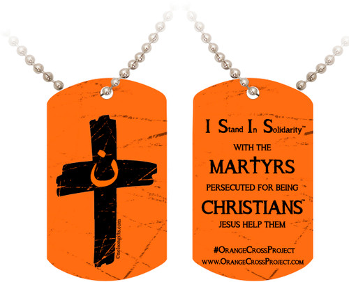 Orange Cross Project Martyr Solidarity Dog Tag
