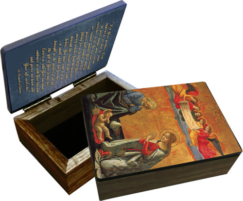 Nativity with Prayer  Keepsake Box
