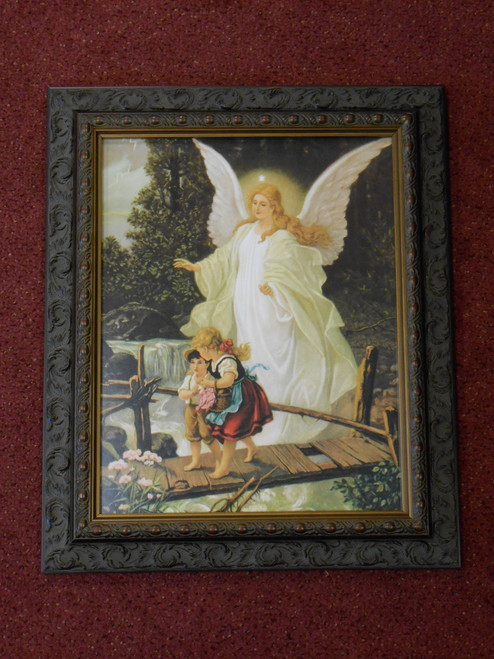 Angel on the Perilous Bridge - Ornate Dark Frame - LIMITED EDITION