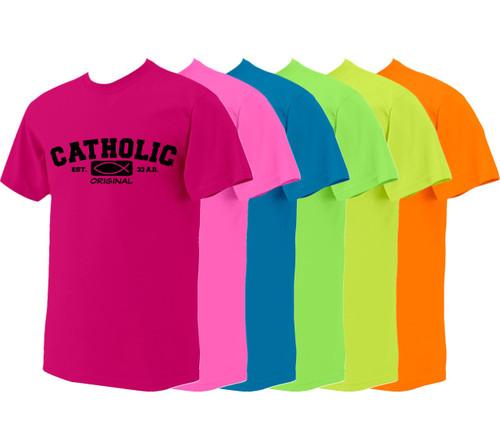 Catholic Original Neon T-Shirt