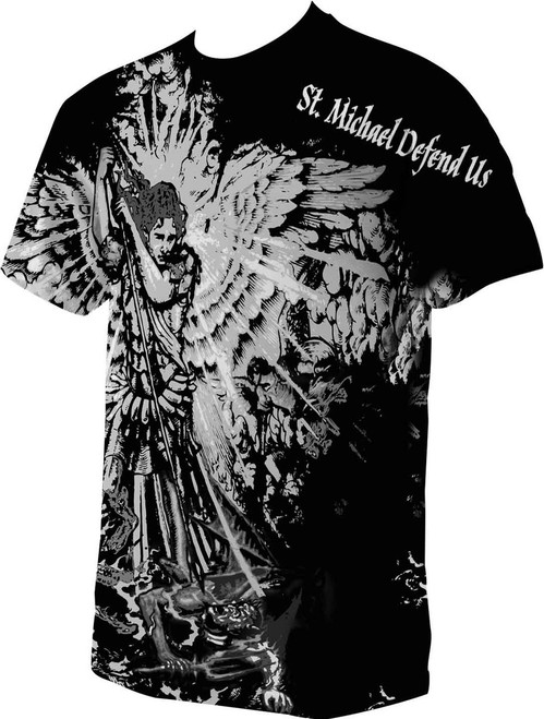 St. Michael Defend Us Full Color T-Shirt