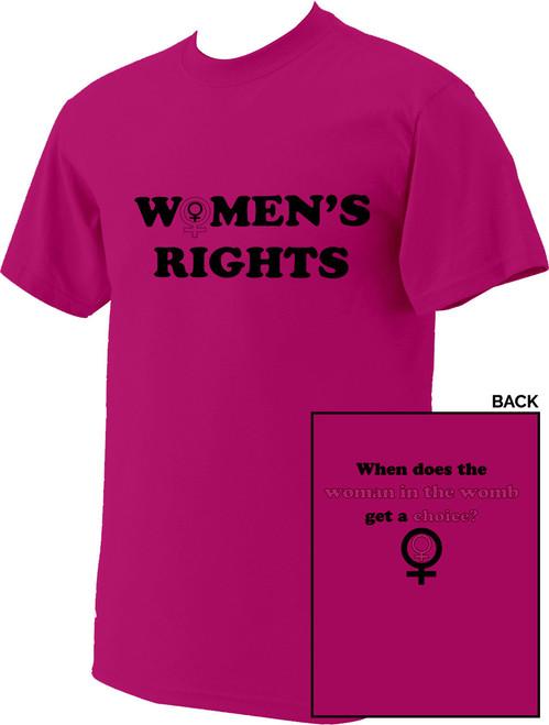"""Women's Rights"" Pink T-Shirt"