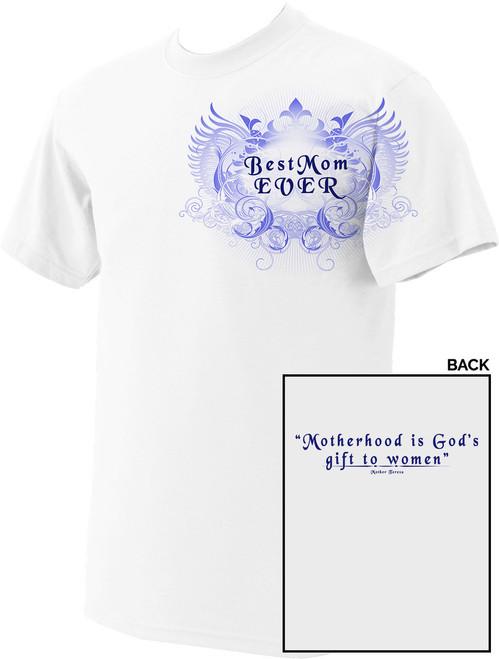 Best Mom White T-Shirt