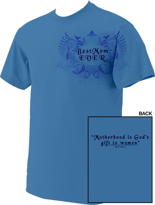 Best Mom Blue T-Shirt
