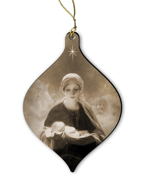 Star of Bethlehem by Bruno Piglhein Wood Ornament