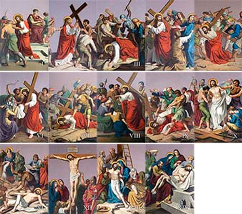 St. Peter's Outdoor Stations of the Cross Aluminum Prints (Set of 14)