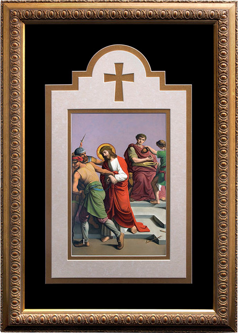 St. Peter's Deluxe Stations of the Cross matted and framed  (Set of 14)